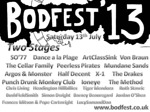 Flyer thumbnail for Bodfest'13: Peerless Pirates + The Cellar Family + Mundane Sands + Dance À La Plage + Argos & Monster + Half Decent + Ioneye + Chris Living + Punch Drunk Monkey Club + Headington Hillbillies + Tiger Mendoza + Ruth Stavric + BushFieldSmith + Simon Dwight + Jordan O'Shea