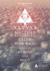 Flyer thumbnail for `: XXYYXX + Blackbird Blackbird + Slow Magic + Giraffage + Mt. Wolf + Salva + Niva + Molo + Charlie Traplin + Daktyl + The Ninetys + Maxx Baer + Templa