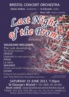Flyer thumbnail for Last Night Of The Proms: Bristol Concert Orchestra