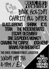 Flyer thumbnail for MFP Presents.. Charity Bank Holiday All Dayer: IC1s + Escape December + The Indegenerates + One Suspicious Monkey + Brains For Breakfast + Glass Arrows