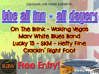 The All Inn - All Dayer: Conspiracy + Some Kinda Mushroom + Lucky 13 + The Marv White Blues Band + Hefty Fine + Waking Vegas + On The Brink + Origin  picture
