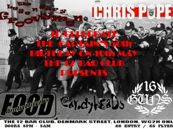 London Callin Presents: Pope + The Legendary Groovymen + 16 Guns + Food + The Candymen picture