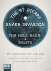 Flyer thumbnail for The St Pierre Snake Invasion + The Milk Race + Beasts
