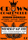 Flyer thumbnail for Crown Comedy Club: Simon Donald, Stuart Mitchell, Wouter Meijs, Evelyn Mok, Lynn Ruth Miller, Tony Marrese