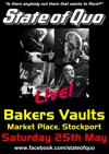 Flyer thumbnail for Live At The Bakers Vaults!: State Of Quo