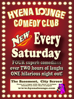 Flyer thumbnail for Hyena Lounge Comedy Club - Saturday Night Lounge: Steve Harris, Anthony J Brown, Sam Avery, Dan Nightingale