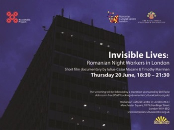 'invisible Lives: Romanian Night Workers In London' – Short Film Documentary By Iulius-cezar Macarie &timothy Marrinan picture