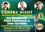 Flyer thumbnail for The Comedy Pott: John Gordillo, Paul Tonkinson, Jim Smallman