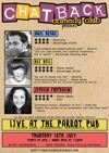 Flyer thumbnail for Chatback Comedy's July Jamboree!: Anil Desai, Bec Hill, Jessica Fostekew