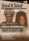 Flyer thumbnail for Soul II Soul + Jazzie B + Caron Wheeler