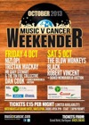 Flyer thumbnail for Music V Cancer Weekender