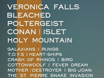 Octernal All Dayer: Veronica Falls + Bleached + Poltergeist + Conan + Islet + Holy Mountain + Galaxians + Rungs + T.O.Y.S. + Heart-Ships + Crash Of Rhinos + Cottonwoolf + Fever Dream + Mother / Destroyer + Big Joan + The St Pierre Snake Invasion + Get Machine + Destroy! + Gurgles + Latitudes + The Family Elan picture