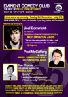 Flyer thumbnail for Eminent Comedy Club: Joel Dommett, Paul McCaffrey, Dan Thomas, Luke Honnoraty