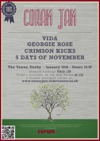 Flyer thumbnail for Coram-jam: 5 Days Of November + Vida + Crimson Kicks + Georgie Rose