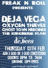 Flyer thumbnail for Freak 'n' Roll - Student Band Night: Deja Vega + Oxygen Thieves + Ghost Town Heroines + The Kirkbride Plan