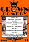 Flyer thumbnail for Crown Comedy Club: Pete Johansson, Paul Myrehaug, Sheraz Yousaf, Chris Coltrane, Gerry Howell, Wouter Meijs