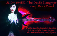 Flyer thumbnail for The Devils Daughter: Judy Shire + Judy Shire Band + The Running Guns + Mendeleyev Allan-Blitz