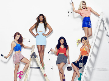 The Saturdays + Conor Maynard picture