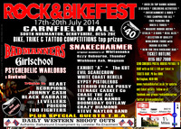 Flyer thumbnail for Rock And Bike Festival 2014