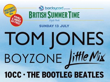 Barclaycard Presents British Summer Time Hyde Park: Tom Jones + Boyzone + Little Mix + 10cc + The Bootleg Beatles + Troy + Go!Go!Go! + Hello Kitty picture