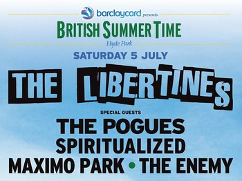Barclaycard Presents British Summer Time Hyde Park: The Libertines + The Pogues + Spiritualized + Maximo Park + The Enemy + Swim Deep + Reverend And The Makers + Wolf Alice + Darlia + I Am Kloot + Brownbear + The View + The Twang + The Rifles + Raglans + Cuckoo Lander + Slaves + The Jacques + Lois & The Love picture