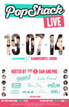 Flyer thumbnail for Popshack Live: Union J + Luke Friend + Amelia Lily + Jasmine Thompson + Loveable Rogues + Kingsland Road + Ebony Day + Daniel J + Brad Kavanagh  + Musical Bethan + M.A.D