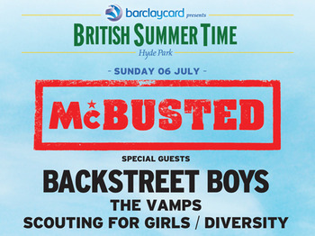 Barclaycard Presents British Summer Time Hyde Park: McBusted + Backstreet Boys + The Vamps + Scouting For Girls + Diversity + Lawson + FIVE + Neon Jungle + Elyar Fox + Ollie Marland + George Barnett + Joel Baker + Mike Dignam + Wheatus picture
