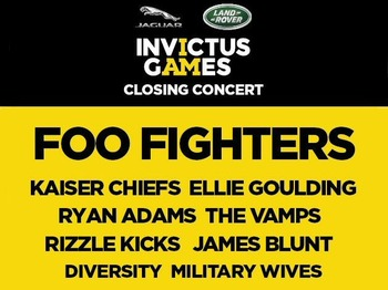Invictus Games Closing Concert: Foo Fighters + Kaiser Chiefs + Ellie Goulding + Ryan Adams + The Vamps + Rizzle Kicks + James Blunt + Diversity + The Military Wives picture