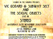Sounds In The Suburbs Presents: Vic Godard & Subway Sect, The Sexual Objects event picture