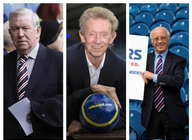 Legends Of Scottish And World Football: Denis Law, John Greig, Willie Henderson artist photo