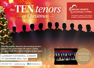 The 10 Tenors at Christmas: Sam furness, Aled Wyn Davies, Osian Wyn Bowen, Ben Thapa, Robyn Lyn Evans, Andrew Henley, Guy Withers, Peter Van Hulle, Dimo Georgiev, Stacey Wheeler, Justine Viani artist photo