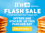 24 hour flash sale: 70+ offers incl. 2-4-1 tickets