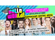 HelloWorld: Zoe Sugg, PointlessBlog, Joe & Caspar, Rose & Rosie, Jim Chapman, Louise Pentland, KSI, Marcus Butler, Oli White, Jake Mitchell, Jake Maynard, New Hope Club artist photo