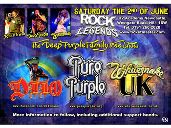 The Deep Purple Family Tree Show: DIIO - A Tribute to Ronnie James Dio, Pure Purple, Whitesnake UK - The Tribute picture
