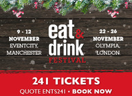 Eat & Drink Festival - Christmas Edition: 2 for 1 tickets!