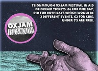 Oxjam Teignmouth artist photo