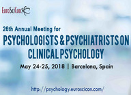 26th Annual Meeting for Psychologists & Psychiatrists on Clinical Psychology artist photo