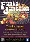Flyer thumbnail for An Evening Of Soul, Disco And Party Music: Funky Junction