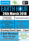 Flyer thumbnail for Earth Hour Chard: 3 Daft Monkeys, Seize The Day, Animal Krackers, Sharon Lazibyrd, Hannah Cumming